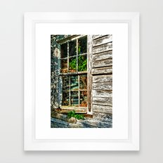 Overgrown Behind the Window Framed Art Print
