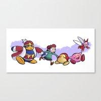 Kirby Friends Canvas Print