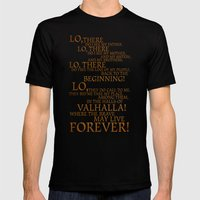 Viking Prayer Mens Fitted Tee Black SMALL