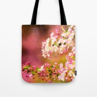 Pretty and Pink crab apple blossoms Tote Bag