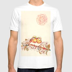 Lovebirds Mens Fitted Tee SMALL White