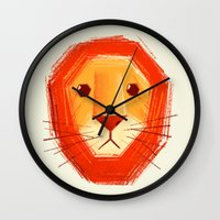 Sad lion Wall Clock