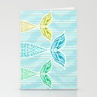Mermaids and Stripes Stationery Cards
