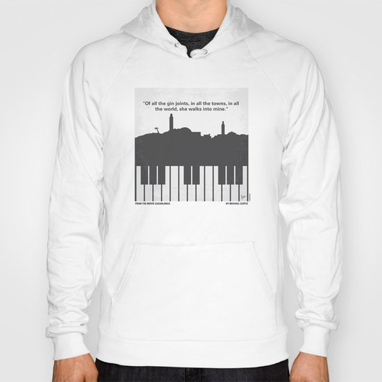 No192 My Casablanca minimal movie poster Hoody