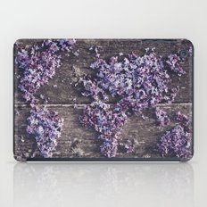 Lilac world map iPad Case