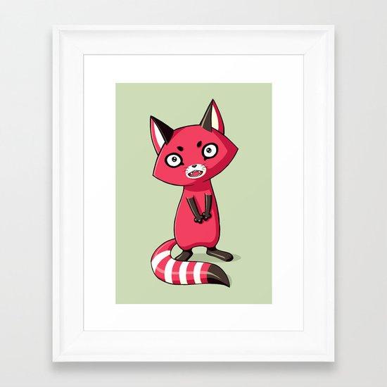 Shy Raccoon Framed Art Print