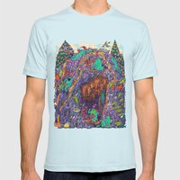 The Pizza Mine Mens Fitted Tee Light Blue SMALL