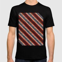 Stone Stripes Mens Fitted Tee Black SMALL