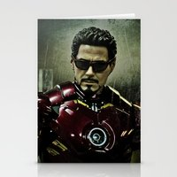 Tony Stark In Iron Man C… Stationery Cards