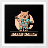 Mortal Wombat Art Print