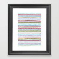Reddish Pattern Framed Art Print