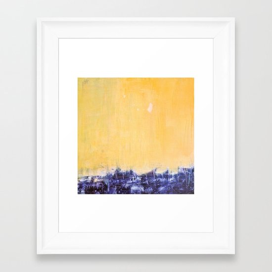 indigo sea Framed Art Print