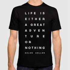 Adventure or Nothing Mens Fitted Tee Black SMALL