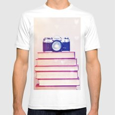 Retro Love  Mens Fitted Tee SMALL White