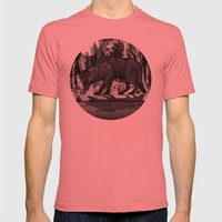 Black Shuck Mens Fitted Tee Pomegranate SMALL