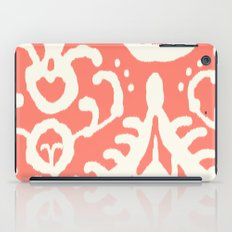 Ikat in coral  iPad Case