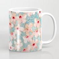 Shabby Chic Hibiscus Pat… Mug