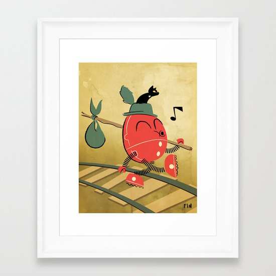 It's a Carefree Hobo Life Framed Art Print