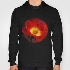Red and yellow rose Hoody