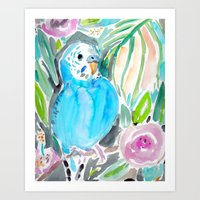 Chipper The Budgie Art Print