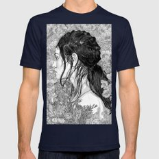 Love is in Beauty and Chaos Mens Fitted Tee Navy SMALL