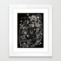 Spark-Eyed Oblivion Cascade Blues Framed Art Print