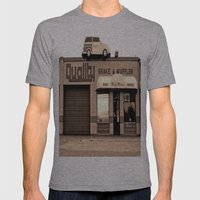 Car On Roof Mens Fitted Tee Athletic Grey SMALL