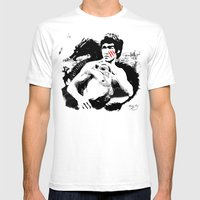Bruce - Enter the Dragon Mens Fitted Tee White SMALL