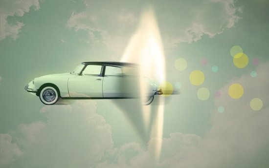 supersonic citroen Art Print