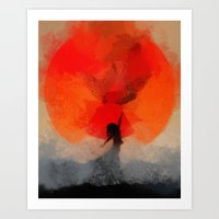 Umbrellaliensunshine: At… Art Print
