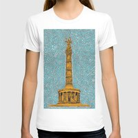 Siegessäule Drawing Meditation - Blue Womens Fitted Tee White SMALL