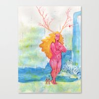 On the Nature of Spirits: Flora Canvas Print