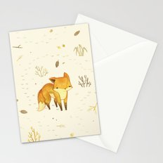 Lonely Winter Fox Stationery Cards