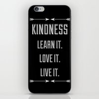 Kindness iPhone & iPod Skin