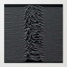 Unknown Radio Waves - Unknown Pleasures Canvas Print