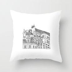 Old Town (Stare Miasto) - Warsaw, Poland Throw Pillow