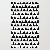 Playful triangles Rug