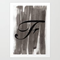 - F - Art Print