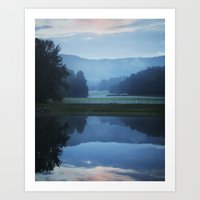 Sunset In The Great Smok… Art Print