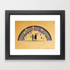 Rain Stole Colors Framed Art Print