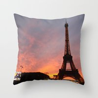 Mesmerized in Paris Throw Pillow