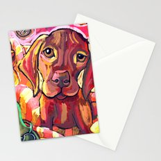 Dog with Shoes Stationery Cards