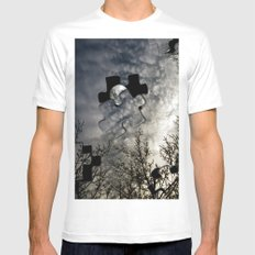 Sky Surrealism. White Mens Fitted Tee SMALL