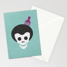 Skull with Fro. Stationery Cards
