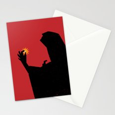 Pearl - A figure offers up a pearl Stationery Cards