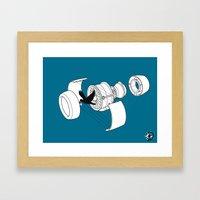 Jet Engine victim Framed Art Print