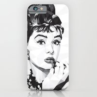 iPhone & iPod Case featuring Breakfast at Tiffany's by Cat Lines