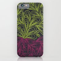 iPhone & iPod Case featuring Yellow and Dark Pink Drops by Sarah J Bierman