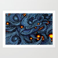 Infection colored Art Print