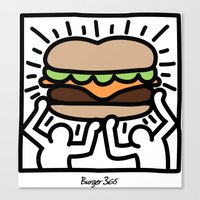 Pop Art Burger #1 Canvas Print